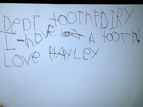 Hayley tooth letter